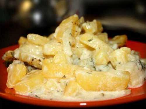 Рецепты картошки тушеной в сметане, секреты