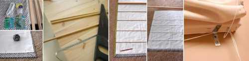 Изготовление римских штор  своими руками