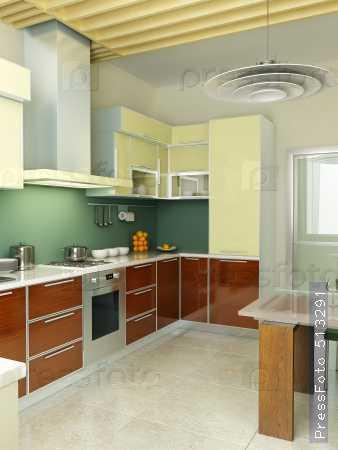 Современный кухонный интерьер