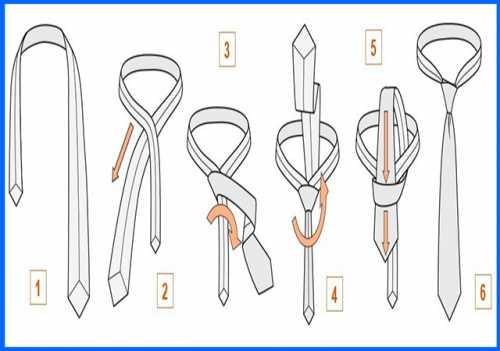 Как завязать галстук пошагово: ТОП