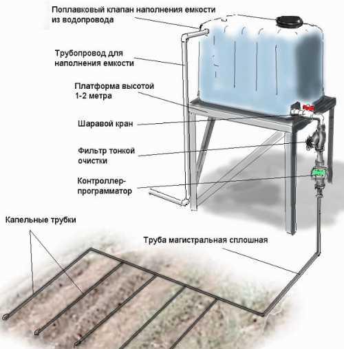 Система капельного полива своими руками