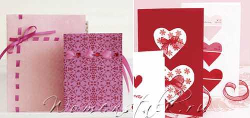 Открытки на день Святого Валентина – делаем сами