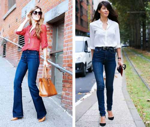 Широкие джинсы снова возвращаются в моду фото
