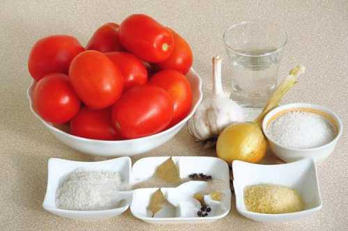 Выбери рецепт помидоров в желатине, а также