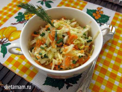 Салат со свежей капусты Рецепт